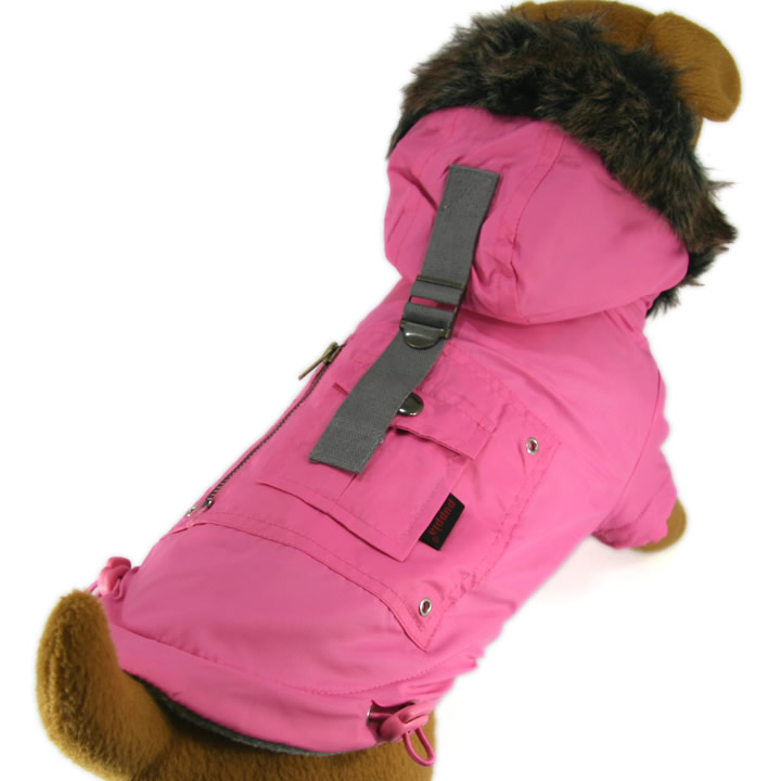 Wind Breaker Fleece Parka Jacket for dogs